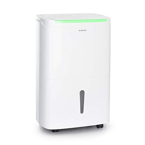 Klarstein DryFy Connect 50 Luftentfeuchter, WiFi-Schnittstelle, Entfeuchtungsleistung 50L/24h, 360 m³/h, für Räume von 45-55 m², 7 L Wassertank, einstellbare Zielluftfeuchte, Timer, flüsterleise, weiß