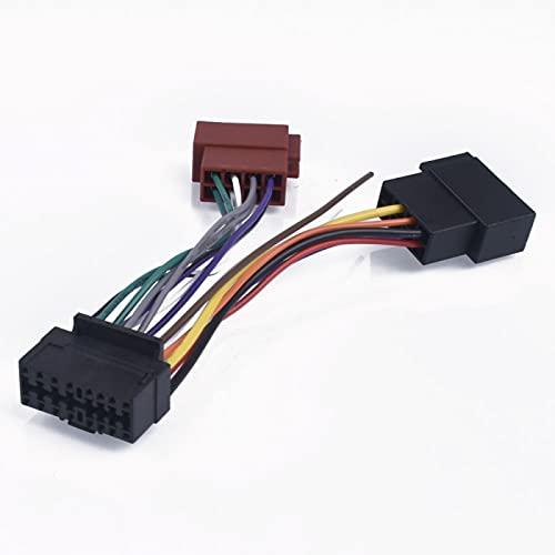 AutOcean Arnés de Radio estéreo de Coche de 16 Pines ISO para Sony Radio a ISO Radio Play Plug Adaptador automático Conector de arnés de cableado