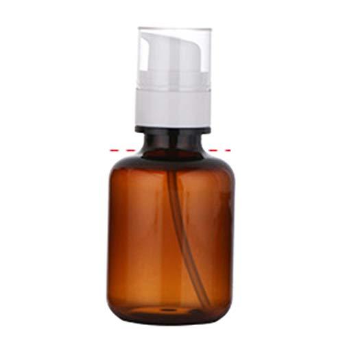 Mini Shampooing Lotion Maquillages Rechargeable Bouteille de Voyage Vide Preuve de Fuite - Brun 30/50/80/120/160ml