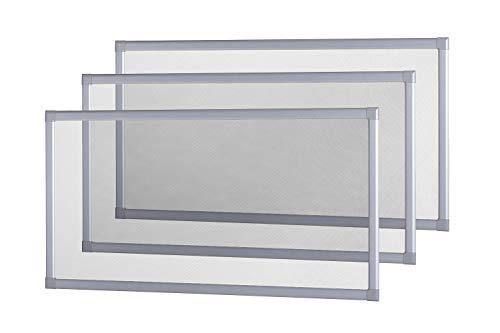 empasa Lichtschachtabdeckung Kellerschachtabdeckung 60 x 115 cm, Gitterrost in Silber, für Kellerschacht und Lichtschacht, Selbstbausatz, individuell kürzbar
