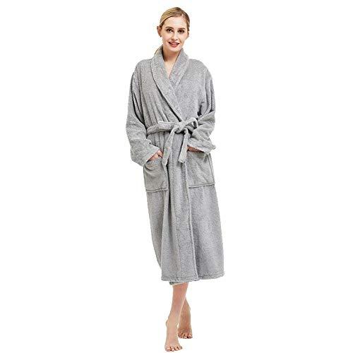beryris Badjas voor Vrouwen - Damesbadjas in bamboe viscose, Dik materiaal, Handdoek Terry Stof.