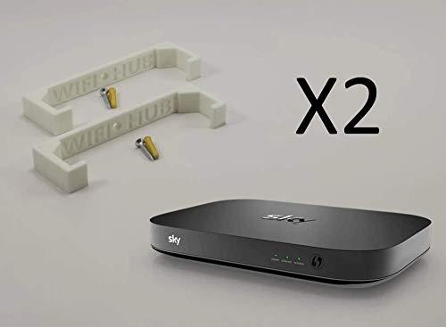 SKY Q HUB WIFI / Router Internet: Wandsteun / beugel : WIT