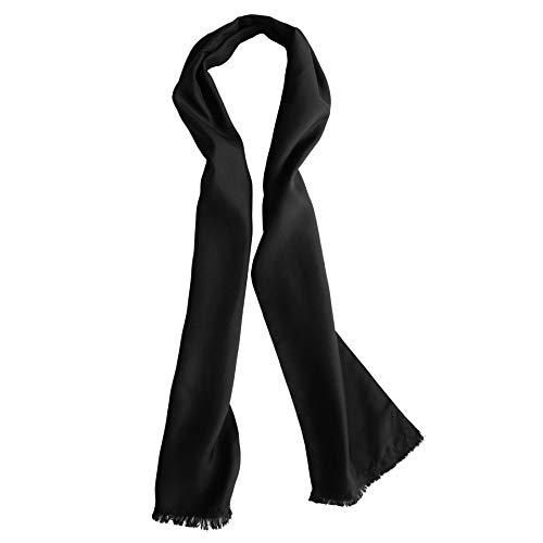 Royal Silk Fliegerschal aus Seide, Schwarz