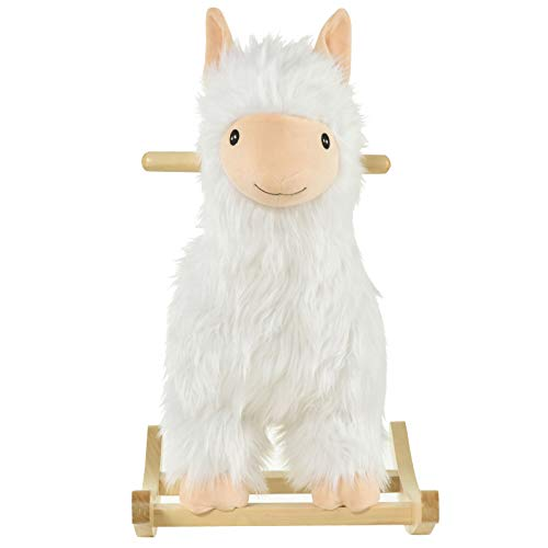 Home & More Chic Nice Durable Indoor Childrens Swaying Sheep Animal Chair Play Toy for Kids 18-36 Months Old Accent
