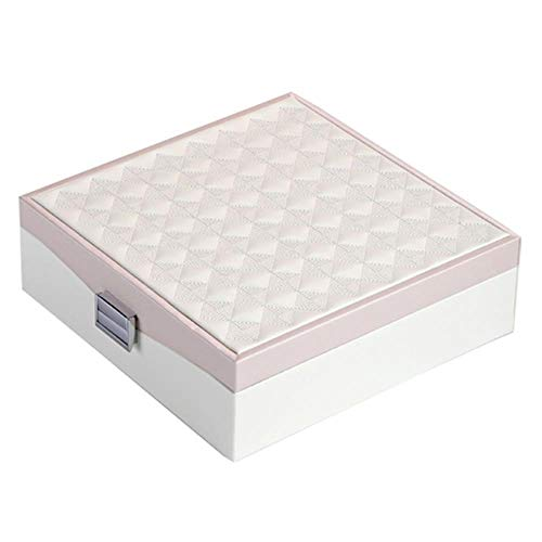 TOSISZ Pu-Leder schmuckschatulle aufbewahrungsbox Ring vitrine tragbare schmuck veranstalter für halsketten juweliere schmuck, rosa