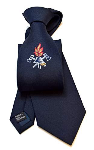 ADAMANT©️ DEUTSCHLAND - Feuerwehr Krawatte mit Emblem - 1a Qualität - Dunkelblau - 150 x 8cm