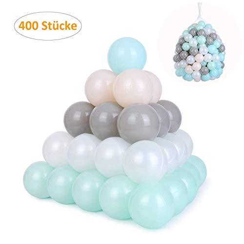 pedy 400 Bunte Bälle Bällebad, Babybälle für Spielbad, Ø6cm Spielbälle Plastikbälle für Kinder, Babys, Ballpool Bällchenbad, CE Zertifiziert, ohne gefährliche Weichmacher, 5 Farbenmix