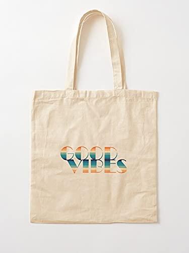 Générique 80S Good Retro Vibes - Bolsas de lona con asas, algodón duradero