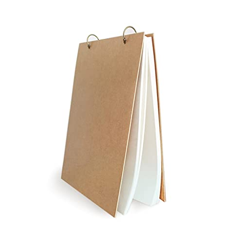 Cuaderno clásico Cuadernos en Blanco Sketchbook Páginas Blancas Dibujo de Dibujo de imágenes de Dibujo para Pintar, Dibujar, Escribir, Dibujar y garabatos, (Color : Brown)