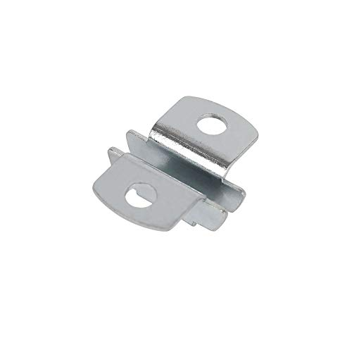 Toolerando Adaptador doble de sujeción de estantes para soporte escuadra doble/Soporte de base para estante sobre escuadra - Set 12 unidades