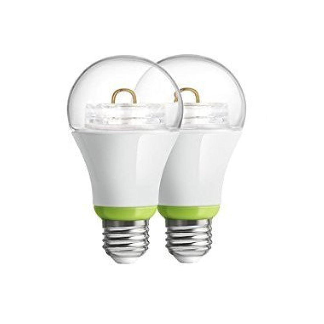 2-Pack GE Link Smart LED Light Bulb, A19 Soft White (2700K), 60-Watt Equivalent, Zigbee, Compatible with Alexa