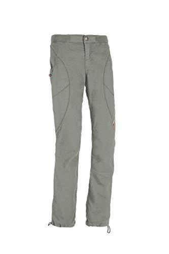 E9 Mara Pantalon long en lin léger pour femme Gris - Gris - XL