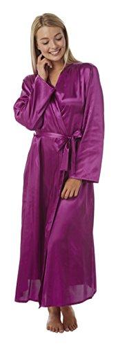 Womens Satijn Kimono Zijde Touch Dressing Jurk Lange en Korte Lengte voor Alle seizoenen