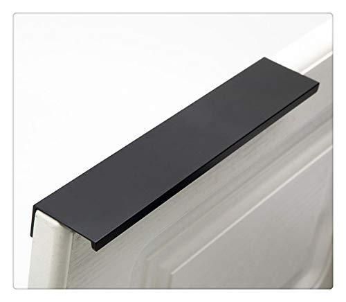 KFZ LDS6805 - Tirador empotrado para muebles de cocina, armarios o cajones, 10 unidades (centro de agujero de 128 mm), color negro