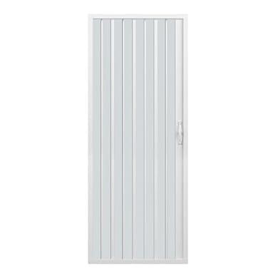 Foto di Box doccia a soffietto, dim. 100 cm x H 185 cm, in PVC, a un lato, anta unica, con apertura laterale.