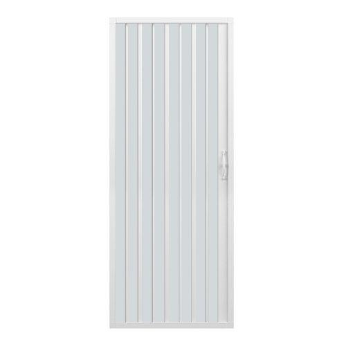 Box doccia a soffietto, dim. 100 cm x H 185 cm, in PVC, a un lato, anta unica, con apertura laterale.