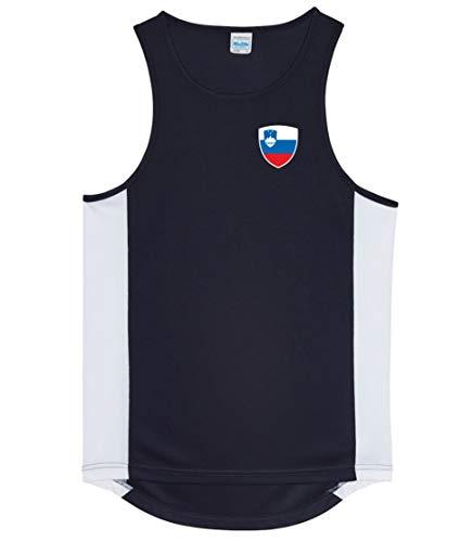 Nation Slowenien Trikot Tank Top Athletic Sport Gym ATH BR-SC
