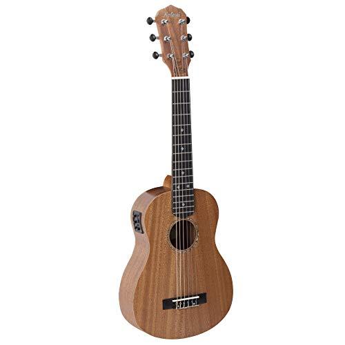 GUITALELE MAORI SERIES KAL SG14 EQ FRISO/ROSETA EM ABS C/EQ C/BAG KALANI SAPELE