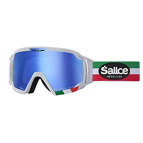 Salice 618ITAED skibril SR wit Italia dubbelzijdig geventileerd antifog RW blauw unisex volwassenen beschrijving Montuur: wit, UNICA