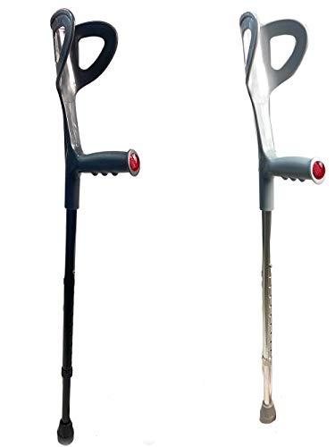 Vetrineinrete Stampella canadese avambraccio stampelle canadesi ortopedica in alluminio regolabile impugnatura anatomica 1 pezzo X58