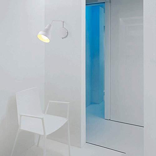 * Nordic wandlamp slaapkamer moderne minimalistische rotatie met schakelaar kleine wandlamp studio leeslamp woonkamer muur lamp wandlamp (kleur: bij)