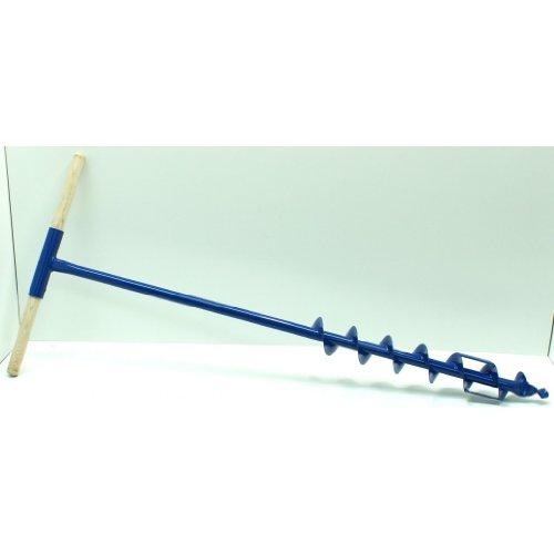 Tarière de 7 cm de diamètre 70 mm avec lame de coupe en acier et manche en bois
