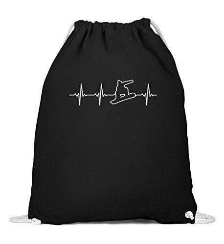 Bolsa de deporte para tabla de snowboard, diseño retro con latido de corazón, Mujer, 0, Negro , 37cm-46cm