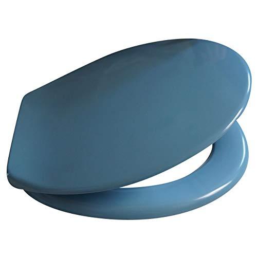 TrendLine WC-Sitz Bermuda Blau mit Absenkautomatik, Duroplast Toilettensitz