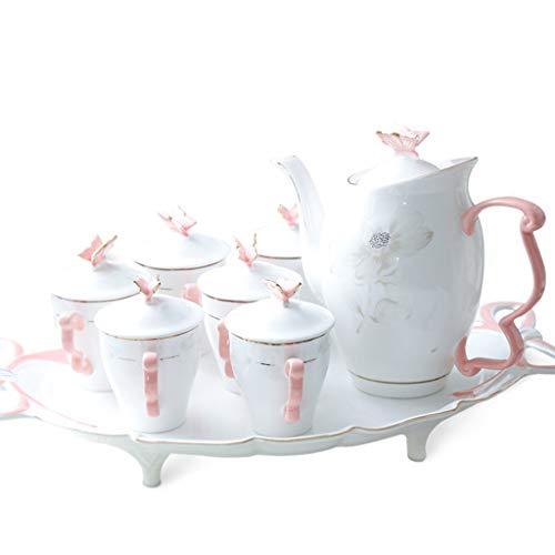 """Élégant Théière Et Tasse Set /""""Tea for One/"""" bleu clair//blanc imprimée"""