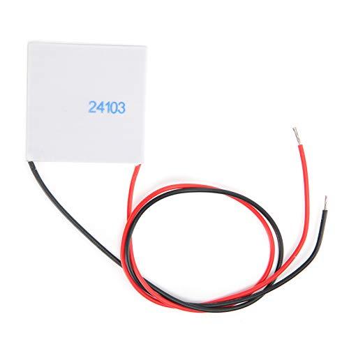 TES1‑24103 Tabletas de refrigeración electrónicas semiconductoras TES1‑24103 Enfriador de disipador de calor de 24 V y 3 A Módulo de placa de enfriamiento de calentamiento de enfriador termoeléctrico,