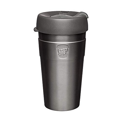 KeepCup Taza térmica reutilizable de acero inoxidable, tamaño grande, 454 ml, nitro