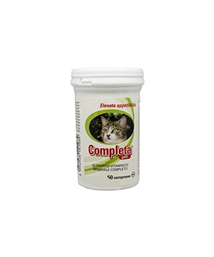 Trebifarma Completa Gatti Mangime Complementare in Compresse per Gatti - Supporto Convalescenza e Debilitazione - 25 gr