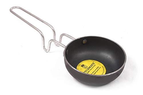 KITCHEN SHOPEE Iron Tadka Pan- Black 10 cm