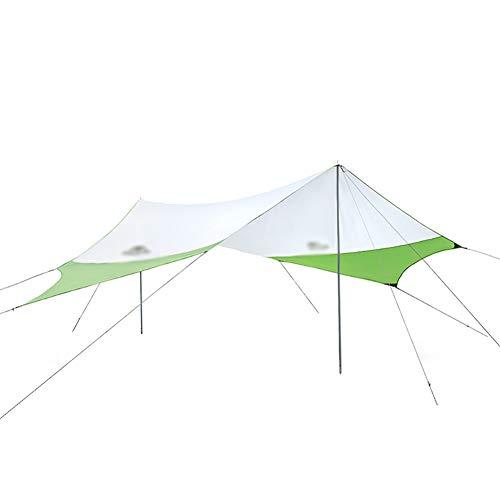 Velas de sombra Hamaca lluvia mosca Carpa Tarp, protección UV y resistente al agua, con el pabellón polaco, clavo de hierro, cuerda del viento, la fijación de la correa, su camping hamaca o tienda de