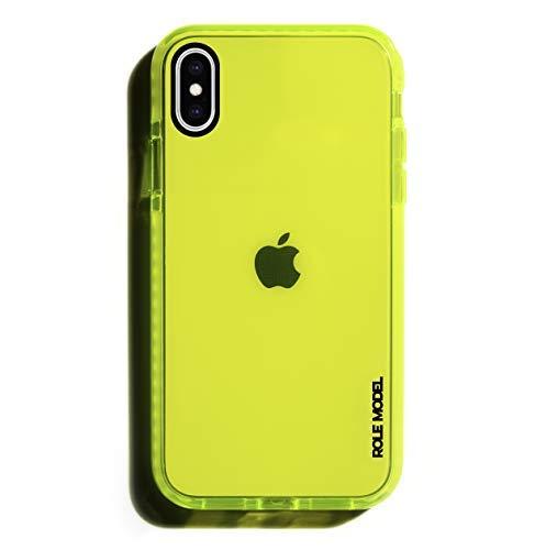 ROLE MODEL CYBERCASE Neon Gelbe Handy Schutzhülle für Apple iPhone, Intensiv Leuchtend, mit Airbag Technologie (iPhone X, CYBERGELB)