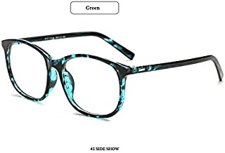 3c1c39a5c800 GigaMax TM Square Eyewear Clear Lens Unisex Retro Glasses Big Frame Vintage Eyeglasses  Frame For Women