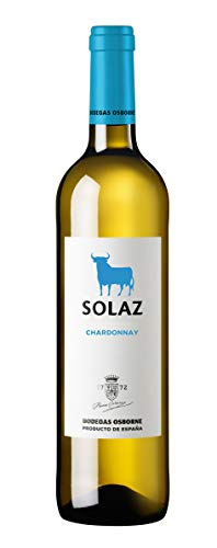 Vino blanco D.O. Tierra de Castilla Solaz Vino variedad uva 100% Chardonnay - 1 botella de 75 cl