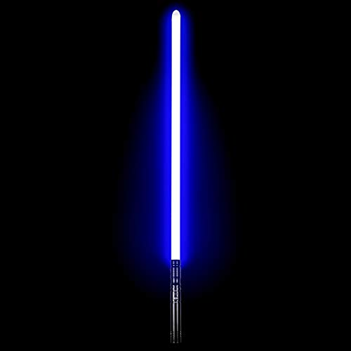 in budget affordable Duel LED Lightsaber – Force FX Lightsaber with 6 SoundFonts Rechargeable Metal, Aluminum…