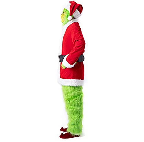 Adult Halloween Costumes Set Santa Limited time sale Green Top Outfits Hair Popular Boots