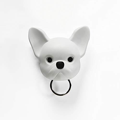 Frenchy Dog Key Holder White Wall Key Holders Key Organizers Wall Key Hooks Plastic And Magnet Material Wantitall