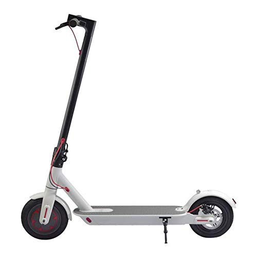 Electrico Patinete con Luz Led Bicicleta City Scooter Plegable para Niños y Adultos,Blanco,7.8AH