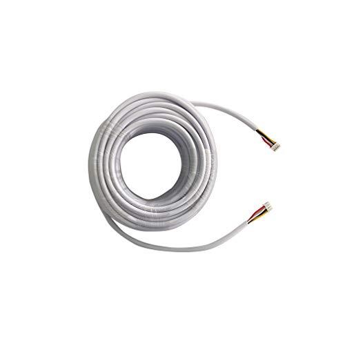 TMEZON 15M RVV4 Kabel 4-Draht-Kabel für Video-Türsprechanlage Türklingel Intercom Türklingel verdrahtete Intercom Kabelverlängerungskabel, weiß