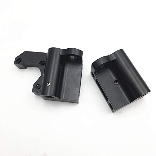Gimax LM8UU Anet A8/Prusa i3 MK2S/MK3 Upgrade Aluminum X end Motor X Idler Metal kit with X Belt tensioner Function 22mm Distance - (Size: 17mm Distance)