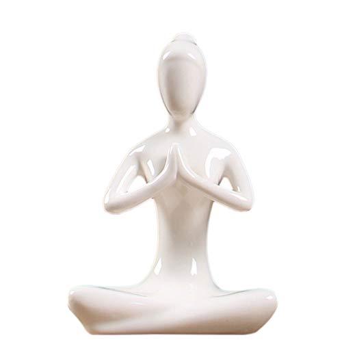 TaoToa Abstract Art Ceramic Yoga Poses Figurine Porcelain Yoga Lady Figure Statue Home Yoga Studio Decor Ornament #2