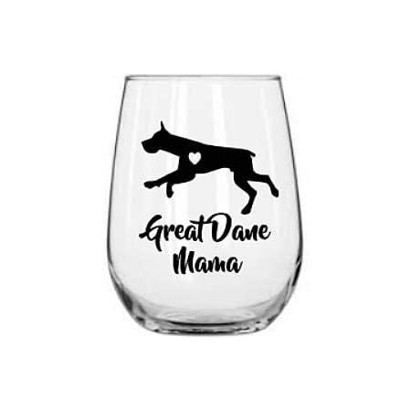 Amazon Com Great Dane Wine Glass 21 Oz Great Dane Gift Dog Mom Dog Lover Wine Glasses