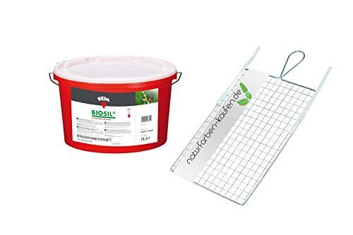 KEIM Biosil Silikatfarbe für Innen mit einem Rollsieb Weiß 1 Eimer a 12,5 l