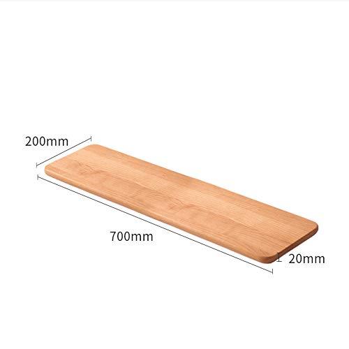 Drijvende Planken, Houten Decoratief, Opslagoplossingen Houten Planken, Houten Meubelen Natuurlijk, Wandgemonteerde Mediaconsole,Walnoten Plank-Kersenhout_700X200X20Mm
