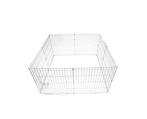 Ellie-Bo Easy-Up Enclos pour chiots et lapins Argenté 76 cm