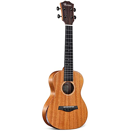 XYF Furnier Ukulele Konzert-Ukulele Mahagoni, Professionelle Holz-Ukelele, Mädchenmodelle, Herren 23, Anfänger, Kleine Gitarren Für Kinder (Color : A, Size : 26 inches)