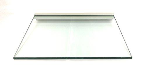 Regale4You Glasregal: 40x30 cm KlarGlas 10 mm mit Profil LINO10 komplett mit Befestigung / 1 Wandregal
